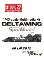 Studio27: Model car kit 1/43 scale - Nissan Delta Wing - 24 Hours Le Mans 2012 - Multimaterial kit