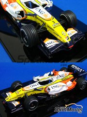Studio27: Model car kit 1/20 scale - Renault R27 ING #3 - Austrian Grand Prix 2007 - resin multimaterial kit