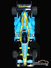 Studio27: Model car kit 1/20 scale - Renault R26 Mild Seven #1, 2 - Fernando Alonso (ES), Giancarlo Fisichella (IT) - Japan Grand Prix 2006 - resin multimaterial kit