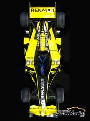 Studio27: Model car kit 1/20 scale - Renault R26 30th Anniversary ELF - Fernando Alonso (ES), Giancarlo Fisichella (IT) - World Championship 2007
