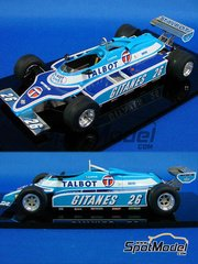 Studio27: Model car kit 1/20 scale - Ligier JS17 Gitanes Talbot - Late season 1981 - resin multimaterial kit
