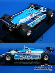 Studio27: Model car kit 1/20 scale - Matra JS17B Talbot Gitanes - World Championship 1982 - resin multimaterial kit