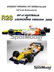 Studio27: Model car kit 1/20 scale - Renault R28 ING #5, 6 - Fernando Alonso (ES), Nelson Piquet (BR) - Austrian Grand Prix 2008 - resin multimaterial kit