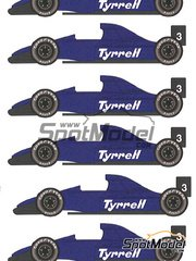 Studio27: Model car kit 1/20 scale - Tyrrell Cosworth 018 #4 - Monaco Formula 1 Grand Prix 1989 - resin multimaterial kit