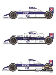 Studio27: Model car kit 1/20 scale - Tyrrell Cosworth 018 - USA Grand Prix 1989 - resin multimaterial kit