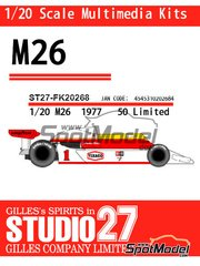 Studio27: Model car kit 1/20 scale - McLaren M26 - World Championship 1977 - resin multimaterial kit