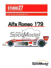 Studio27: Model car kit 1/20 scale - Alfa Romeo 179 - World Championship 1980 - resin multimaterial kit