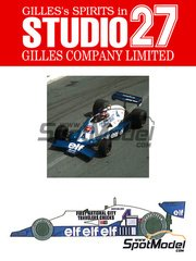 Studio27: Model car kit 1/20 scale - Tyrrell Ford 008 ELF #4 - Patrick Depailler (FR) - World Championship 1978 - resin multimaterial kit