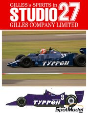 Studio27: Model car kit 1/20 scale - Tyrrell 009 Cosworth DFV V8 #3 - Jean-Pierre Jarier (FR) - World Championship 1979 - resin multimaterial kit