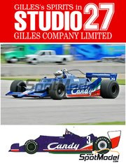 Studio27: Model car kit 1/20 scale - Tyrrell 009 Cosworth DFV V8 Candy #3 - Jean-Pierre Jarier (FR) - World Championship 1978 - resin multimaterial kit