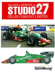 Studio27: Model car kit 1/20 scale - Alfa Romeo 184T Benetton #22 - Riccardo Patrese (IT) - World Championship 1984 - resin multimaterial kit