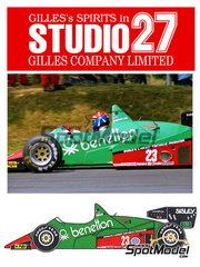 Studio27: Model car kit 1/20 scale - Alfa Romeo 184T Benetton #23 - Eddie Cheever (US) - World Championship 1984 - resin multimaterial kit