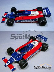 Studio27: Model car kit 1/20 scale - Tyrrell 010 Candy #3 - Jean-Pierre Jarier (FR) - World Championship 1980 - resin multimaterial kit