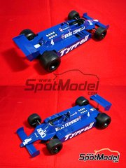 Studio27: Model car kit 1/20 scale - Tyrrell 010 Imola Ceramica #4 - Belgian Grand Prix 1980 - resin multimaterial kit