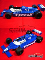 Studio27: Model car kit 1/20 scale - Tyrrell 010 Imola Ceramica #3 - British Grand Prix 1980 - resin multimaterial kit