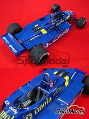 Studio27: Model car kit 1/20 scale - Tyrrell Ford 011 Candy #4 - World Championship 1982 - resin multimaterial kit