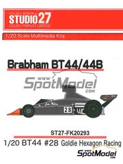 Studio27: Model car kit 1/20 scale - Brabham Ford BT44 Goldie Hexagon Racing #28 - World Championship 1974 - resin multimaterial kit