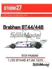 Studio27: Model car kit 1/20 scale - Brabham BT44B Martini Racing #7, 8 - World Championship 1975 - resin multimaterial kit