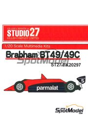 Studio27: Model car kit 1/20 scale - Brabham BT49 Parmalat #5 - World Championship 1979 - resin multimaterial kit