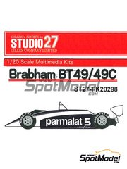 Studio27: Model car kit 1/20 scale - Brabham BT49 Parmalat #5 - World Championship 1980 - resin multimaterial kit