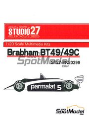 Studio27: Model car kit 1/20 scale - Brabham BT49C Parmalat #5 - World Championship 1981 - resin multimaterial kit