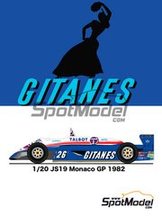 Studio27: Model car kit 1/20 scale - Ligier JS19 Gitanes #26 - Monaco Formula 1 Grand Prix 1982 - resin multimaterial kit