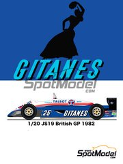 Studio27: Model car kit 1/20 scale - Ligier JS19 Gitanes #25 - British Grand Prix 1982 - resin multimaterial kit