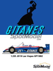 Studio27: Model car kit 1/20 scale - Ligier JS19 Gitanes #25 - Las Vegas Grand Prix 1982 - resin multimaterial kit