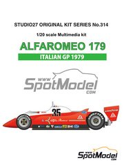 Studio27: Model car kit 1/20 scale - Alfa Romeo 179 Scaini #35 - Bruno Giacomelli (IT) - Italian Grand Prix 1979 - Multimaterial kit image