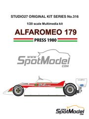 Studio27: Model car kit 1/20 scale - Alfa Romeo 179 - Press version 1980 - Multimaterial kit image