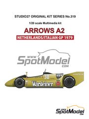 Studio27: Model car kit 1/20 scale - Arrows Ford A2 Warsteiner #29, 30 - Riccardo Patrese (IT), Jochen Mass (DE) - Dutch Formula 1 Grand Prix, Italian Formula 1 Grand Prix 1979 - multimaterial kit image