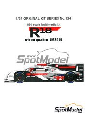 Studio27: Model car kit 1/24 scale - Audi R18 e-tron quattro - 24 Hours Le Mans 2014 - multimaterial kit image