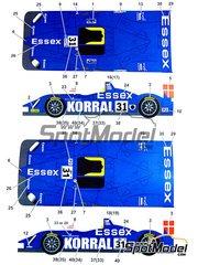Studio27: Model car kit 1/24 scale - Porsche RS Spyder Essex Korral #31 - John Nielsen (DK) + Casper Elgaard (DK) - 24 Hours Le Mans 2008