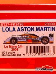 Studio27: Model car kit 1/24 scale - Lola Aston Martin #007, 008, 009 - Jan Charouz (CZ) + Tomáš Enge (CZ) + Stefan Mücke (DE), Anthony Davidson (GB) + Darren Turner (GB) + Jos Verstappen (NL), Stuart Hall (GB) + Harold Primat (FR) + Peter Kox (NL) - 24 Hours Le Mans 2009