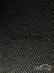 Studio27: Decals - Carbon fiber metallic gray large size pattern