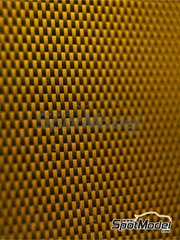 Studio27: Decals - Kevlar fiber dark yellow with large size pattern