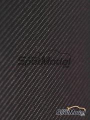 Studio27: Decals - Carbon decal twill weave metallic gray medium size pattern