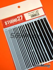Studio27: Decals - Black lines - water slide decals image