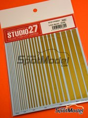Studio27: Decals - Gold lines - water slide decals