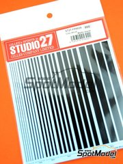Studio27: Decals - Matte black lines - water slide decals image