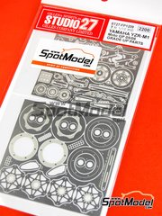 Studio27: Detail up set 1/12 scale - Yamaha YZR-M1 2005 and 2006 - photo-etched parts and assembly instructions - for Tamiya references TAM14115 and TAM14116