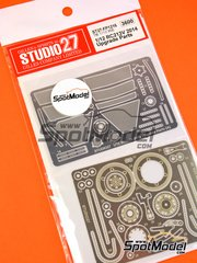 Studio27: Detail up set 1/12 scale - Honda RC213V - photo-etched parts and assembly instructions - for Tamiya references TAM14130 and 14130