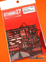 Studio27: Photo-etched parts 1/20 scale - Ferrari 150 Italia - photo-etched parts, seatbelt fabric, water slide decals and assembly instructions - for Fujimi references FJ09161 and FJ091617