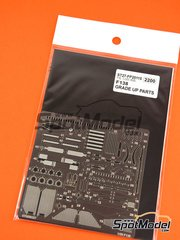 Studio27: Photo-etched parts 1/20 scale - Ferrari F138 - photo-etched parts, seatbelt fabric and assembly instructions - for Fujimi kit FJ09176