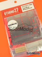 Studio27: Wing set 1/20 scale - McLaren Ford MP4/8 - photo-etched parts and white metal parts - for Tamiya reference TAM25172 image