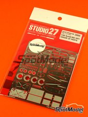 Studio27: Photo-etched parts 1/20 scale - Tyrrell Ford 002 - World Championship 1971 - for Ebbro reference EBR20008