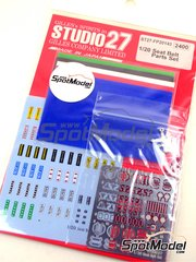 Studio27: Seatbelts 1/20 scale - Formula 1 seatbelt - photo-etched parts, decals, metal pieces