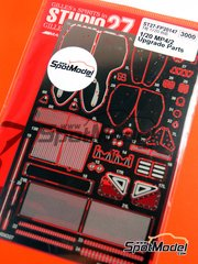 Studio27: Detail up set 1/20 scale - McLaren TAG Porsche MP4/2 - photo-etched parts and assembly instructions - for Beemax Model Kits kit B20001