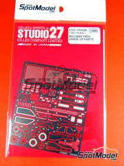 Studio27: Detail up set 1/20 scale - Williams FW24 - FIA Formula 1 World Championship 2002 - photo-etched parts, assembly instructions and painting instructions - for Tamiya reference TAM20055