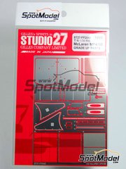 Studio27: Photo-etched parts 1/20 scale - McLaren Honda MP4/5B Marlboro Shell #27, 28 - Alain Prost (FR), Ayrton Senna (BR) - FIA Formula 1 World Championship 1990 - for Tamiya reference TAM20026